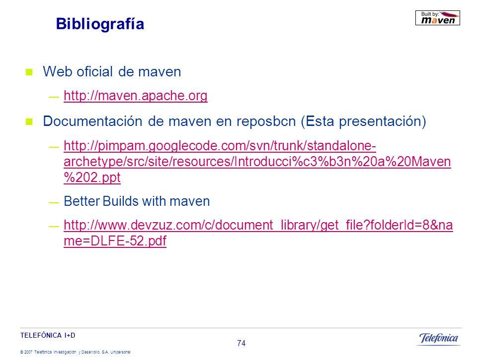 Bibliografía Web oficial de maven