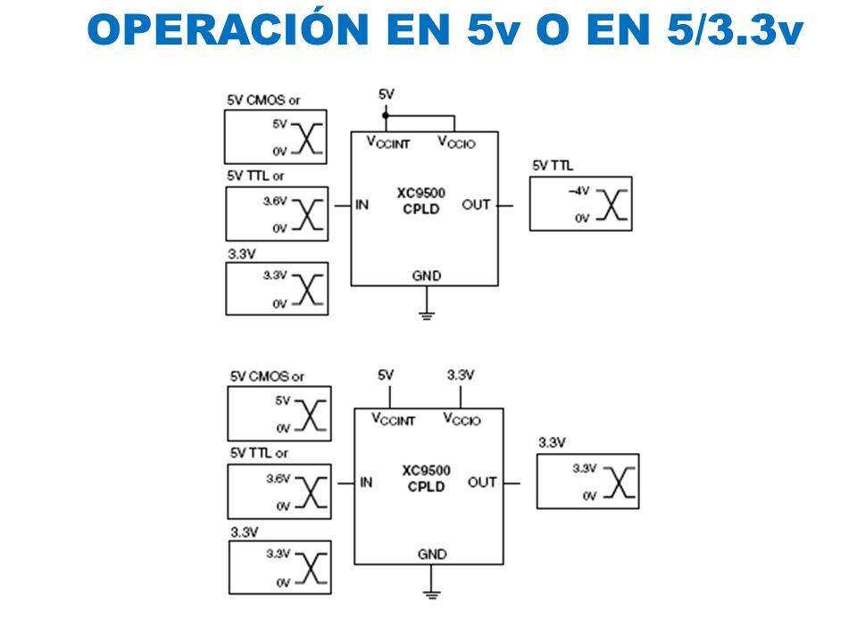 OPERACIÓN EN 5v O EN 5/3.3v