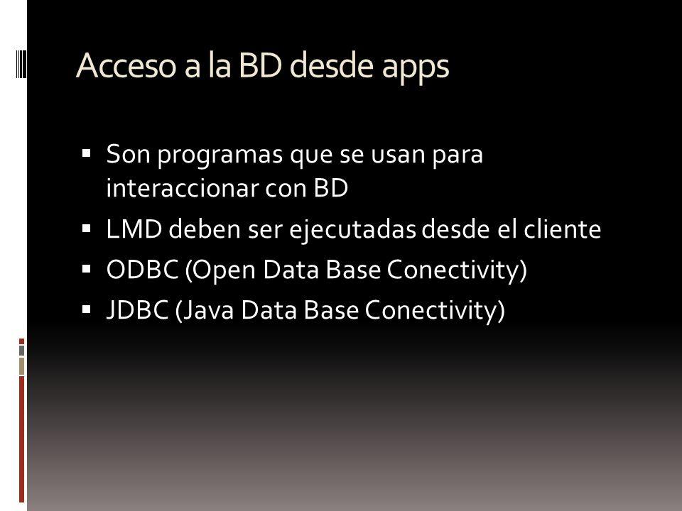 Acceso a la BD desde apps