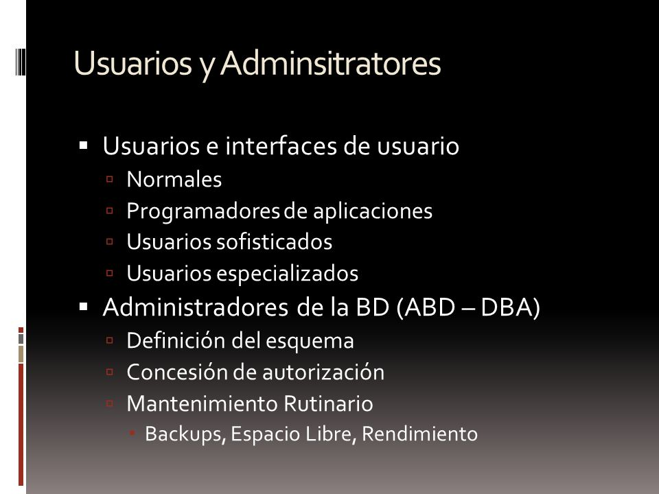Usuarios y Adminsitratores
