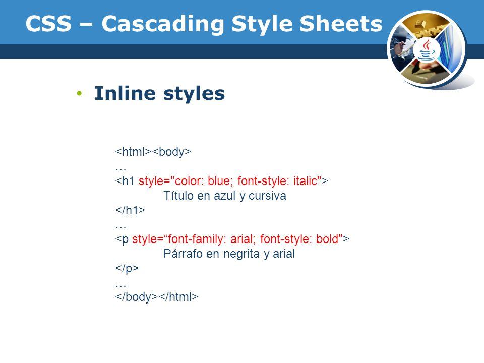 Curso de java y aplicaciones web ppt descargar for Css inline table