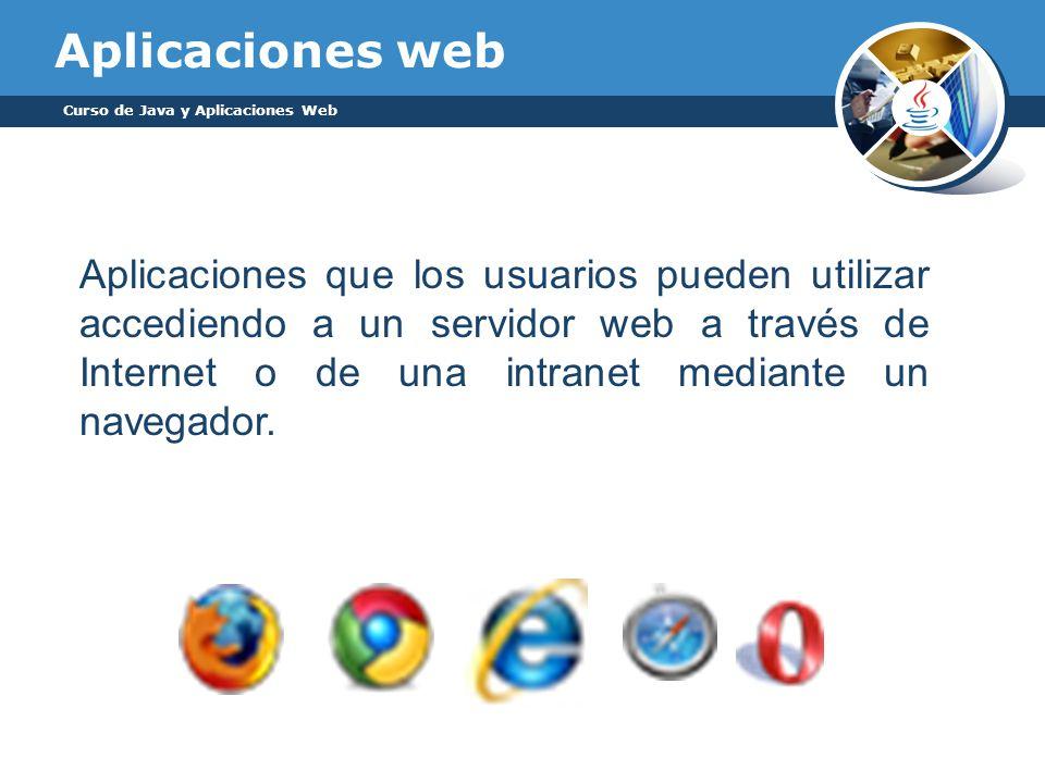 Aplicaciones web Curso de Java y Aplicaciones Web.