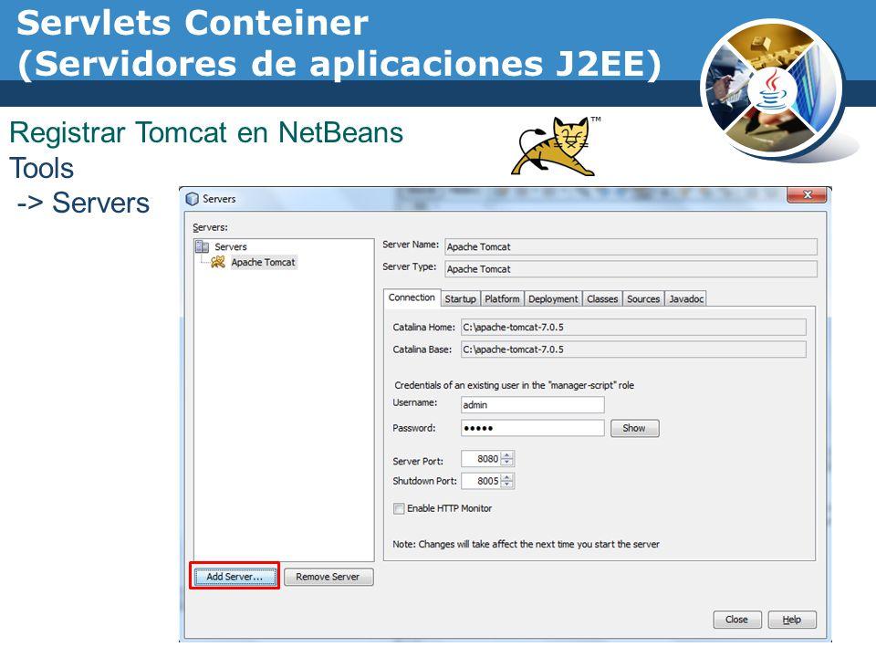 Servlets Conteiner (Servidores de aplicaciones J2EE)