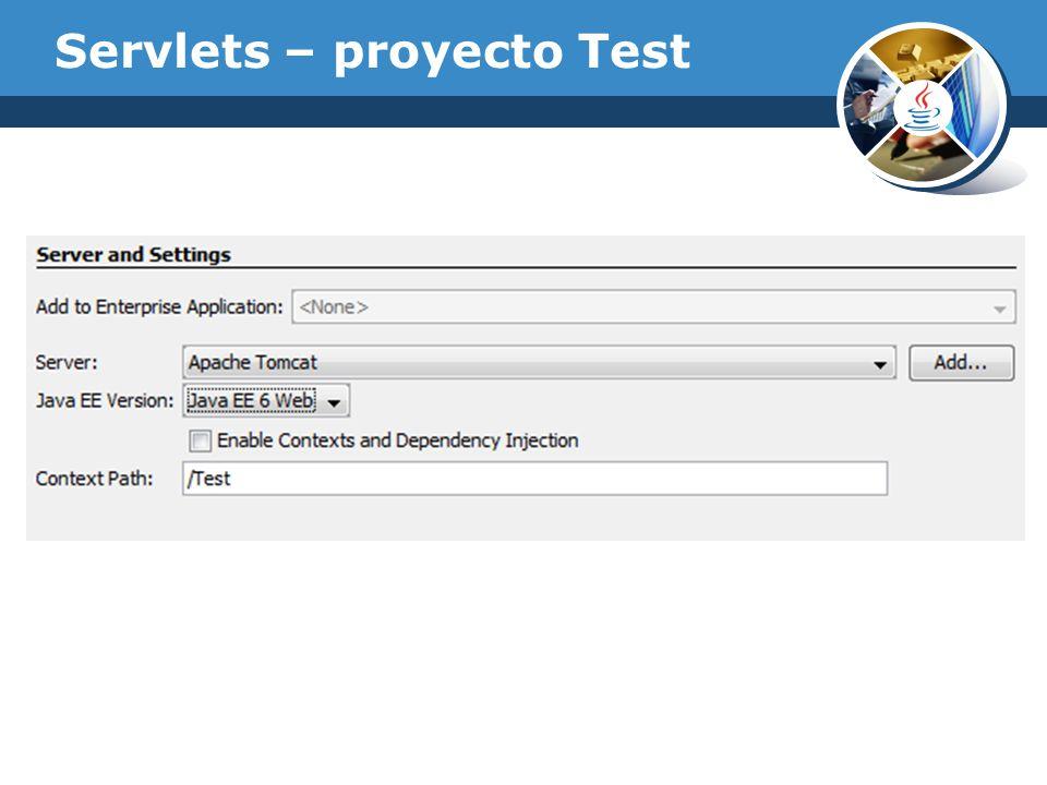 Servlets – proyecto Test