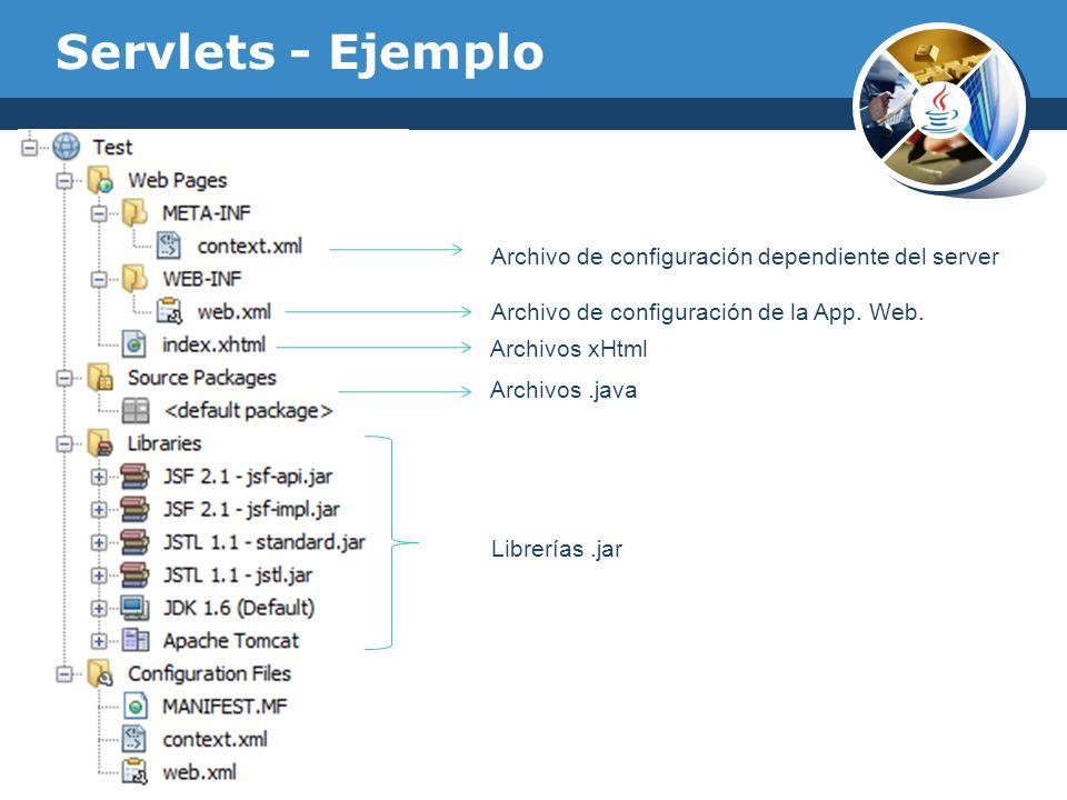 Servlets - Ejemplo Archivo de configuración dependiente del server