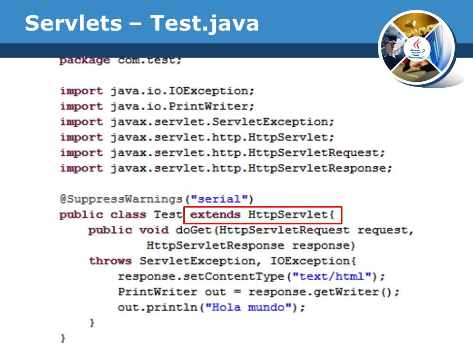 Servlets – Test.java