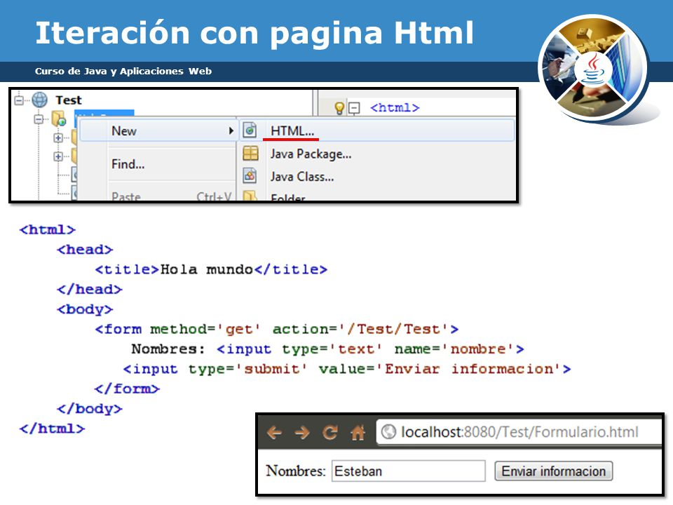 Iteración con pagina Html