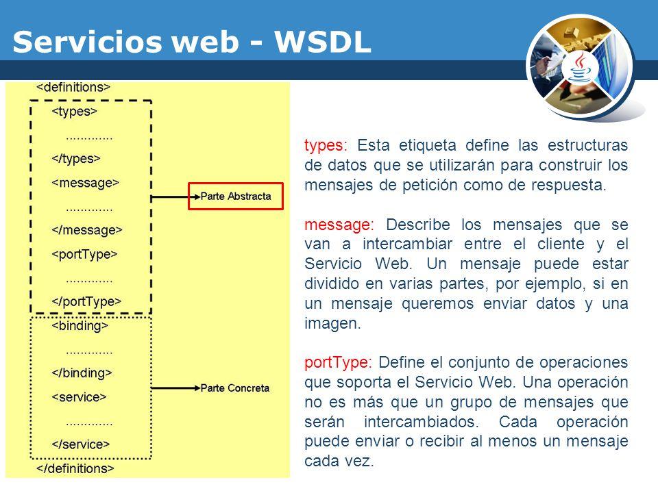 Servicios web - WSDL
