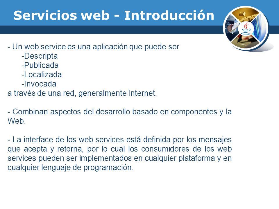 Servicios web - Introducción