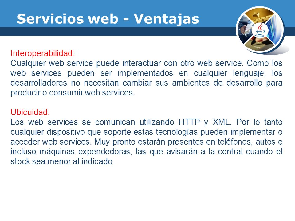 Servicios web - Ventajas