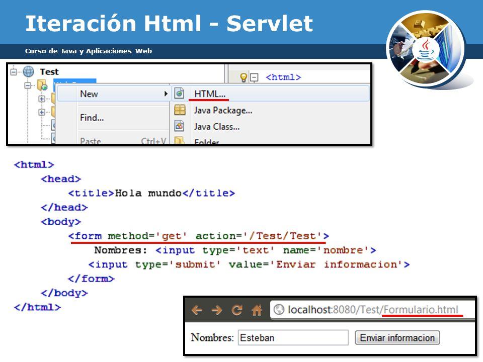 Iteración Html - Servlet