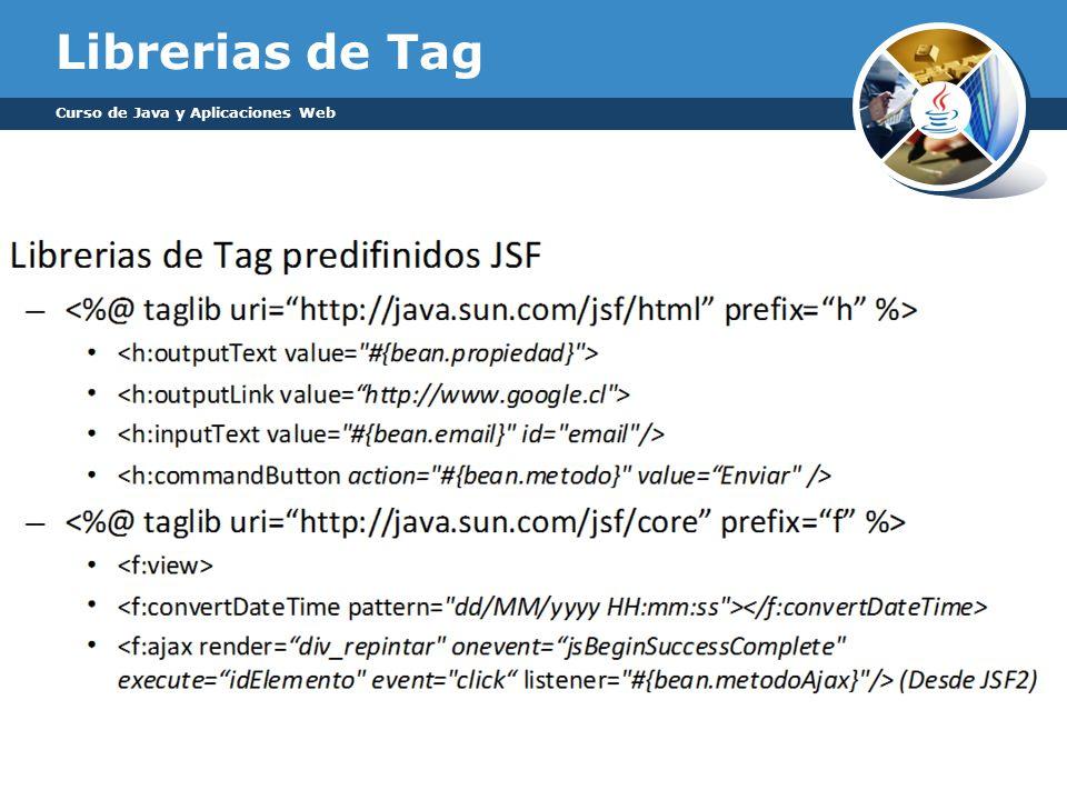 Librerias de Tag Curso de Java y Aplicaciones Web