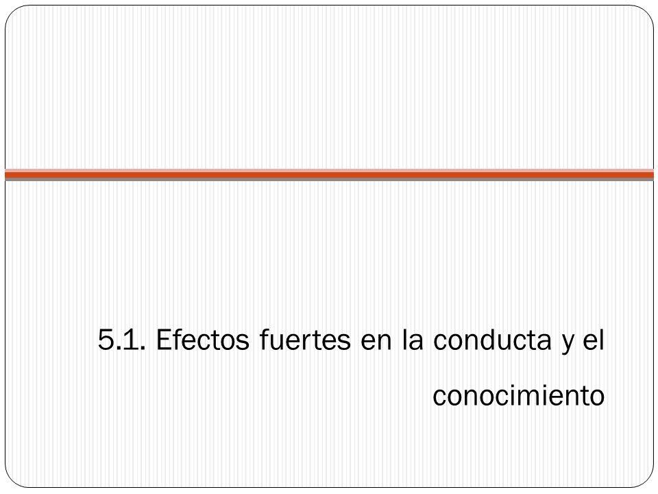 5.1. Efectos fuertes en la conducta y el conocimiento