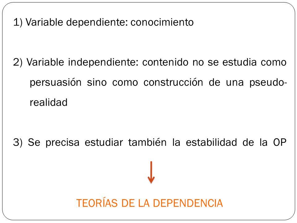 TEORÍAS DE LA DEPENDENCIA