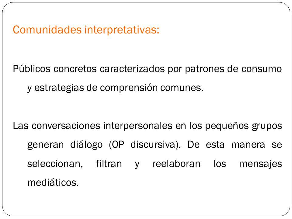 Comunidades interpretativas: