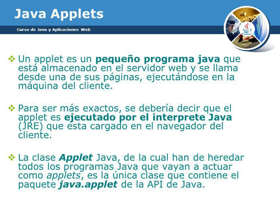 Java Applets Curso de Java y Aplicaciones Web.
