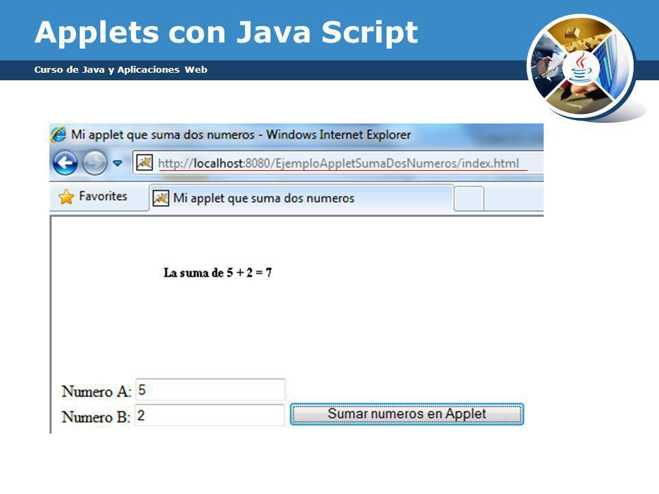 Applets con Java Script