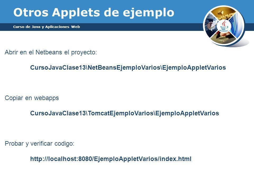 Otros Applets de ejemplo