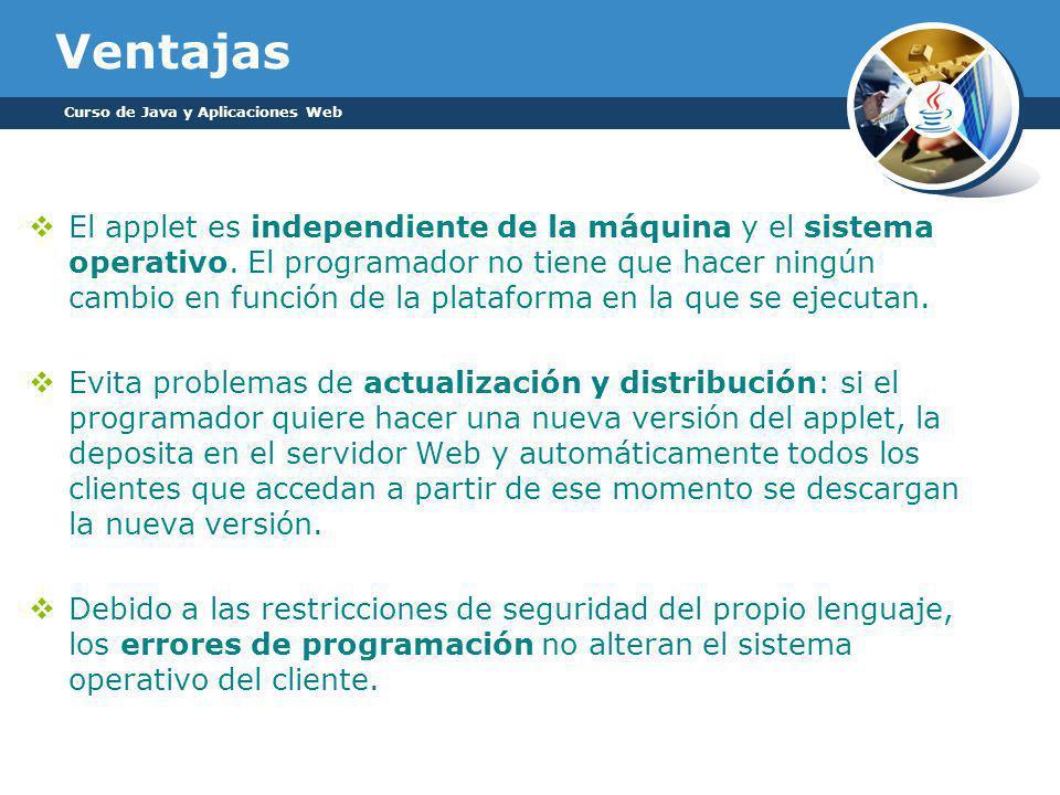 Ventajas Curso de Java y Aplicaciones Web.