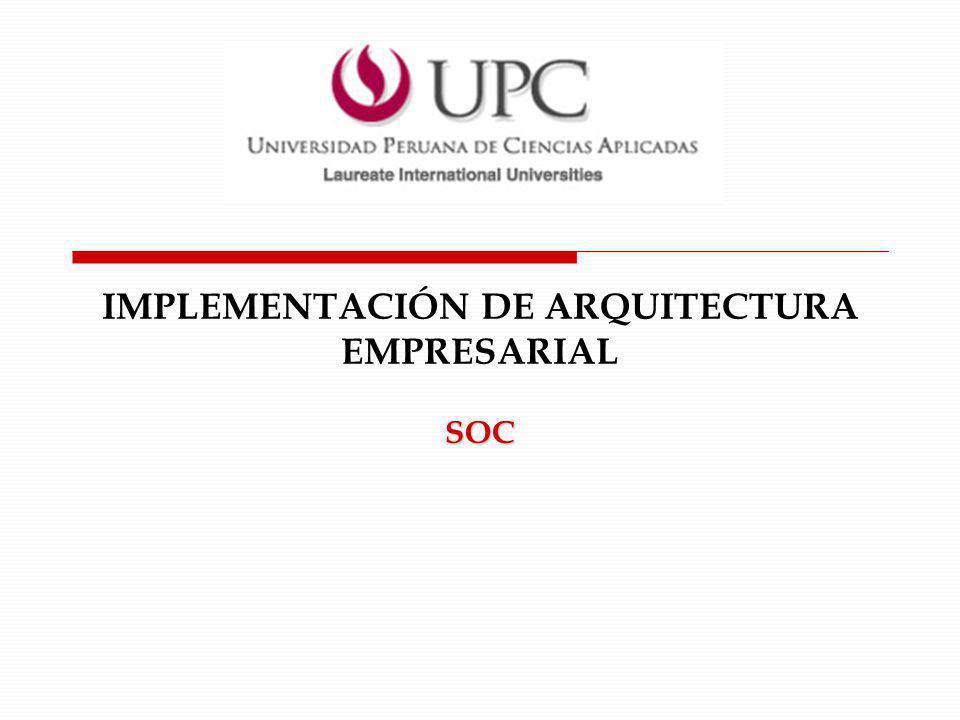IMPLEMENTACIÓN DE ARQUITECTURA EMPRESARIAL
