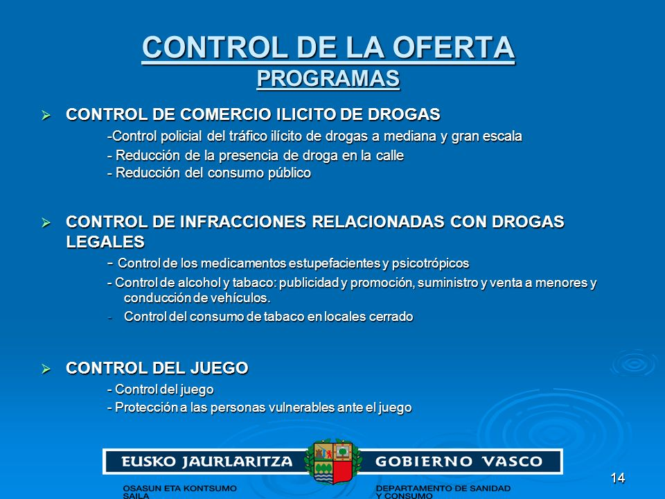 CONTROL DE LA OFERTA PROGRAMAS