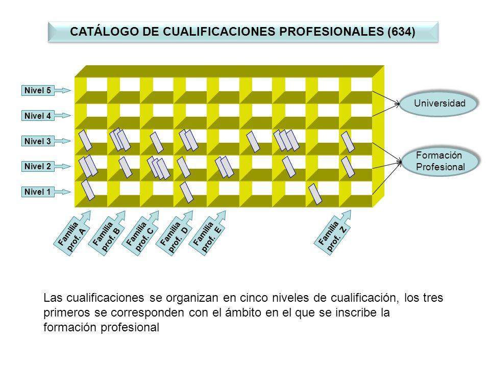 CATÁLOGO DE CUALIFICACIONES PROFESIONALES (634)