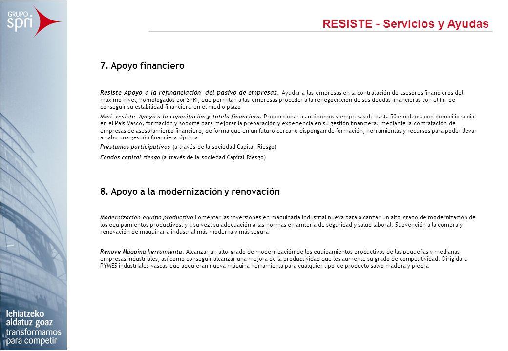 RESISTE - Servicios y Ayudas