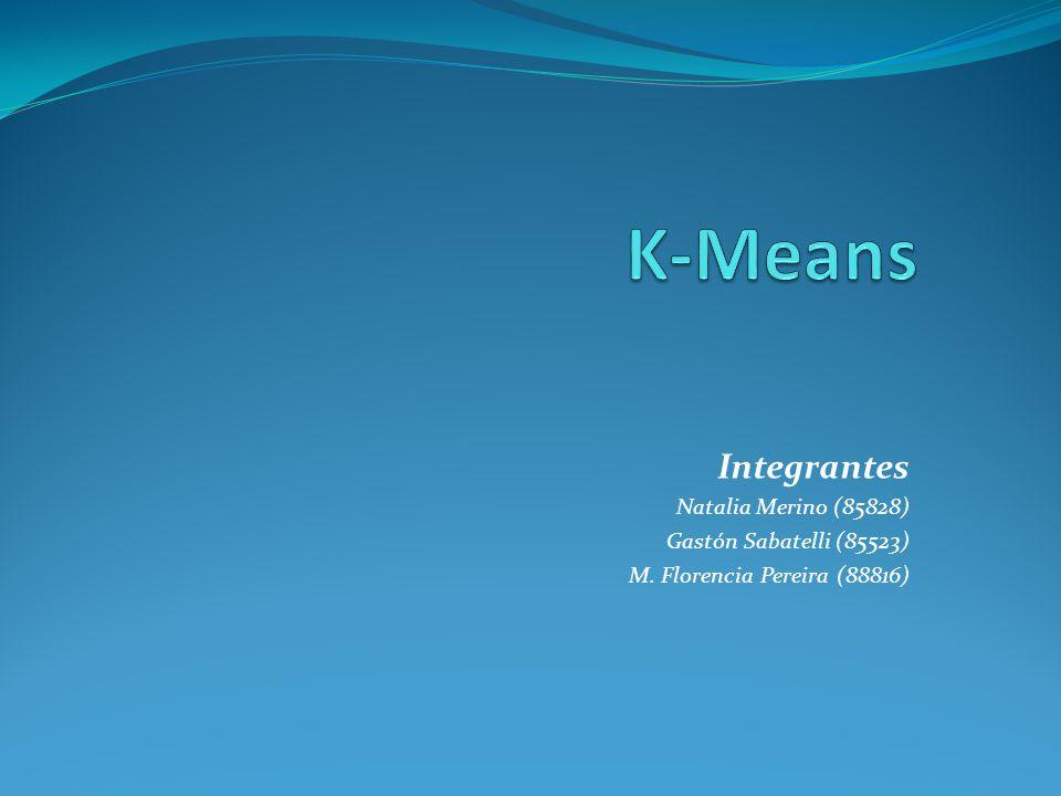 K-Means Integrantes Natalia Merino (85828) Gastón Sabatelli (85523)