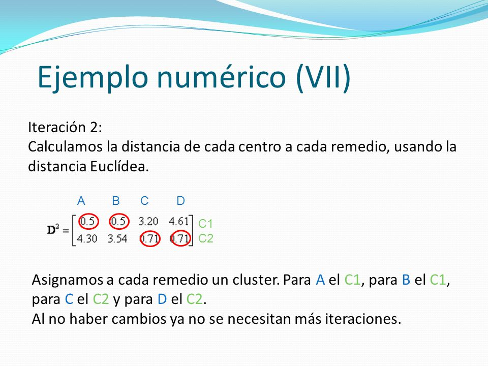Ejemplo numérico (VII)