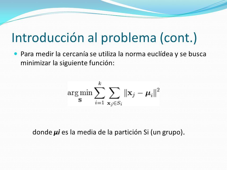 Introducción al problema (cont.)
