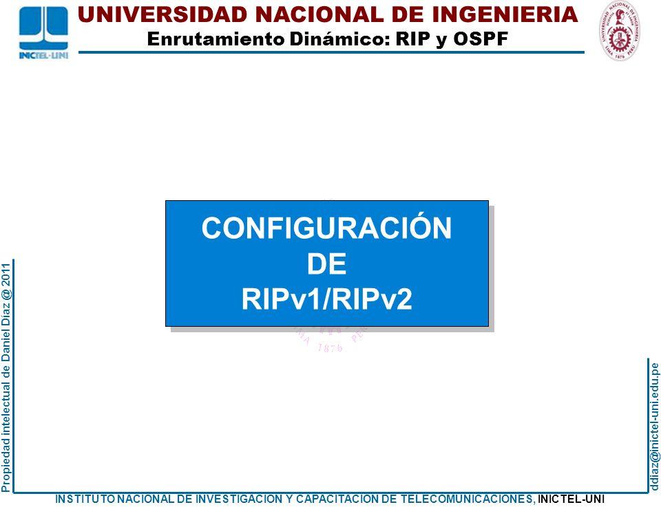CONFIGURACIÓN DE RIPv1/RIPv2