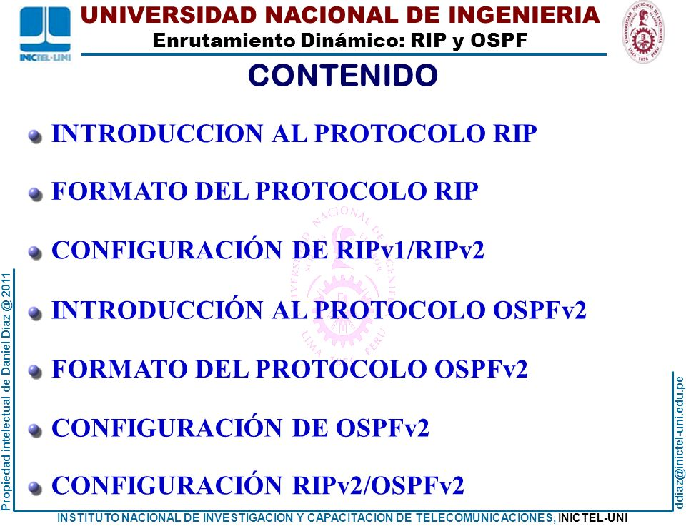 CONTENIDO INTRODUCCION AL PROTOCOLO RIP FORMATO DEL PROTOCOLO RIP