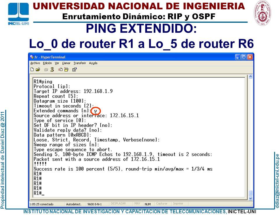 Lo_0 de router R1 a Lo_5 de router R6