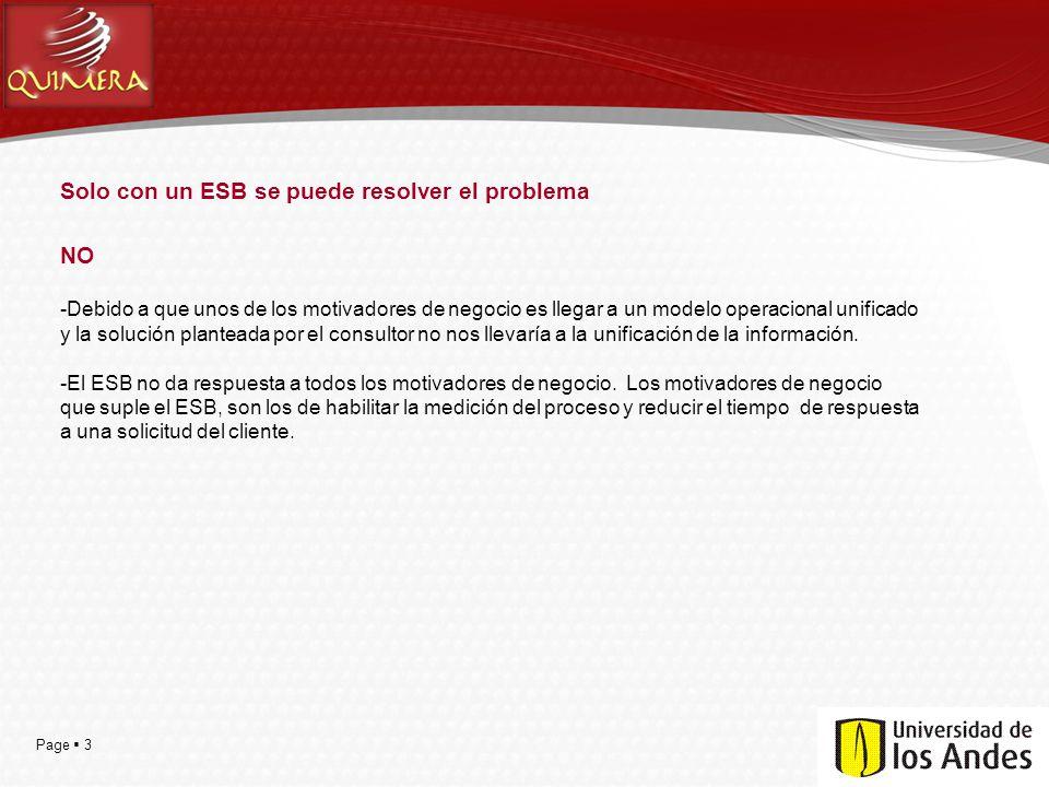 Solo con un ESB se puede resolver el problema