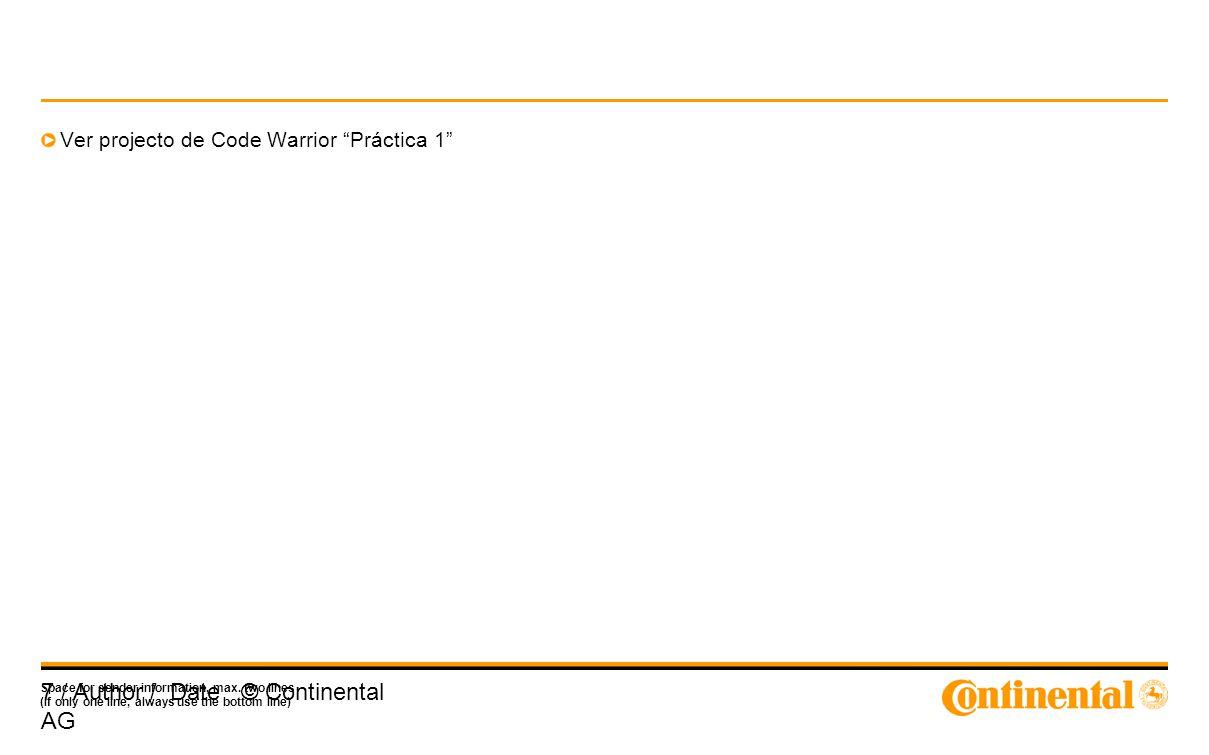 Ver projecto de Code Warrior Práctica 1