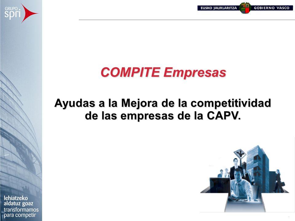Ayudas a la Mejora de la competitividad de las empresas de la CAPV.