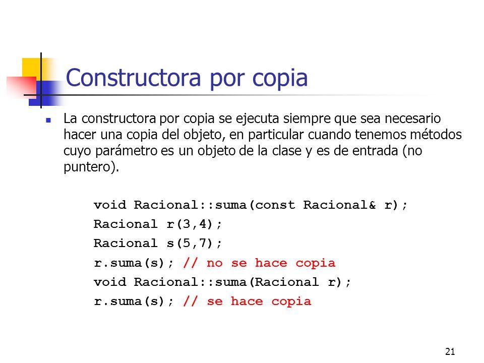 Constructora por copia
