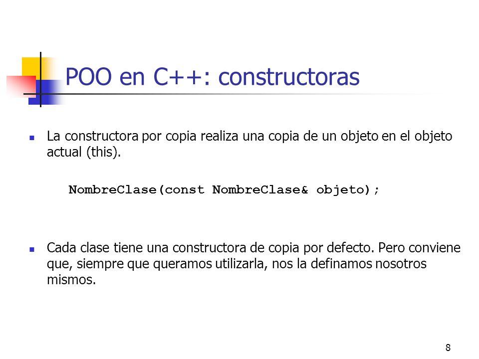 POO en C++: constructoras