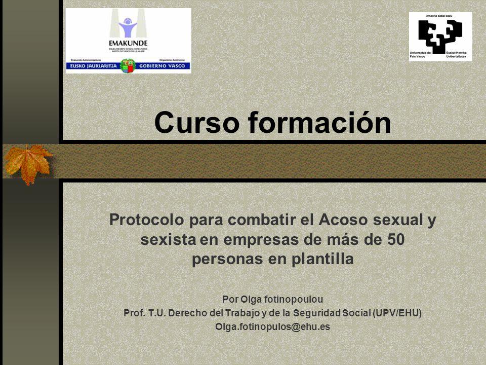 Prof. T.U. Derecho del Trabajo y de la Seguridad Social (UPV/EHU)