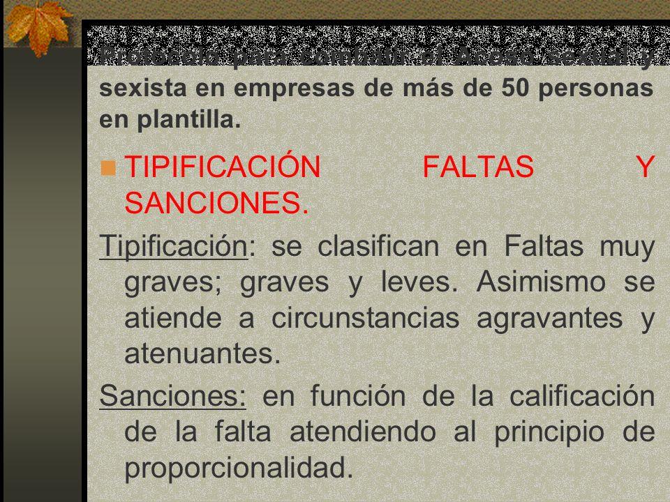TIPIFICACIÓN FALTAS Y SANCIONES.