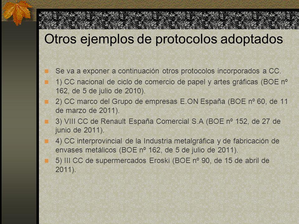 Otros ejemplos de protocolos adoptados