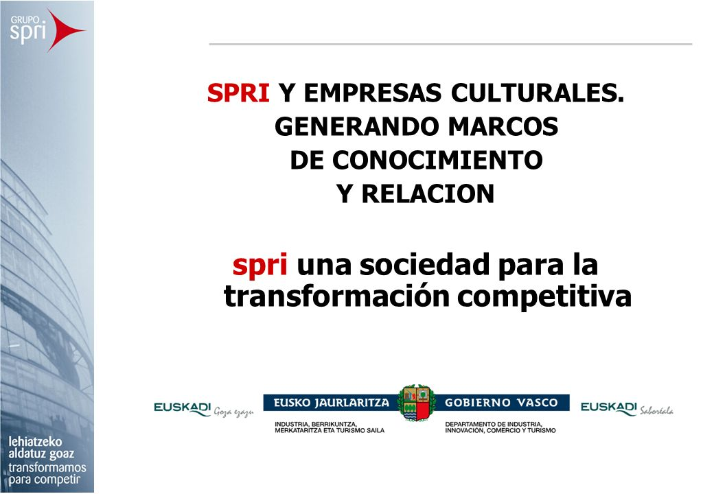 spri una sociedad para la transformación competitiva