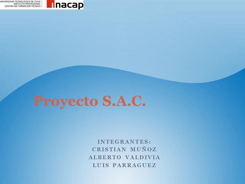Integrantes: Cristian muñoz Alberto Valdivia Luis parraguez