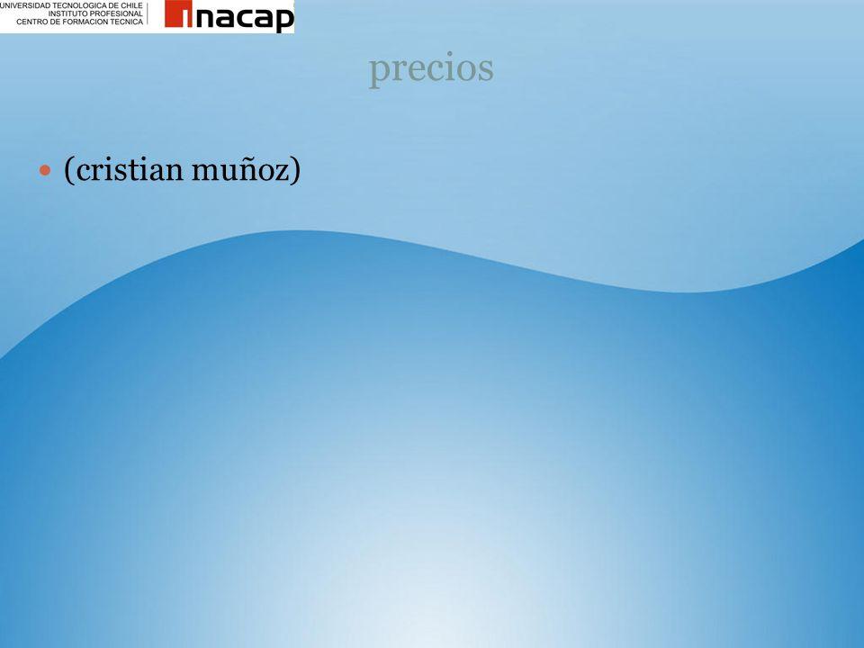 precios (cristian muñoz)
