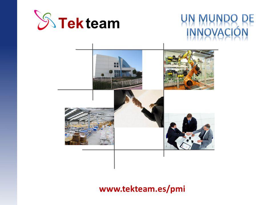 Un mundo de innovación Titol principal www.tekteam.es/pmi