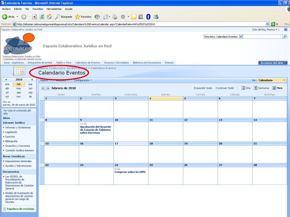 El calendario puede hablarse con el calendario de outlook de la persona usuaria.