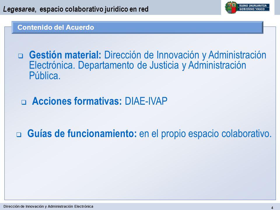 Acciones formativas: DIAE-IVAP