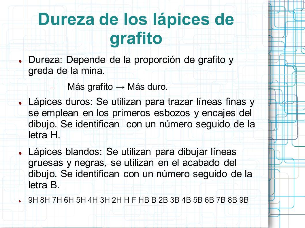 Dureza de los lápices de grafito
