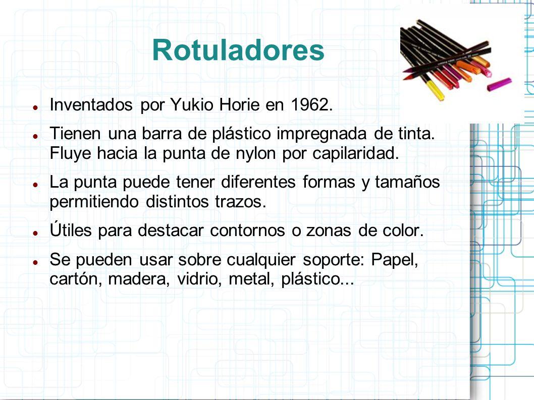Rotuladores Inventados por Yukio Horie en 1962.