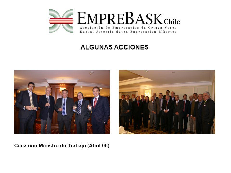 ALGUNAS ACCIONES Cena con Ministro de Trabajo (Abril 06)